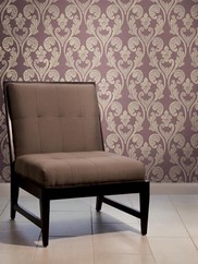 297-40909 Heart Shaped Damask Wallpaper