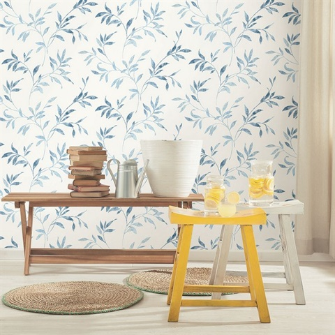 Sanibel Light Blue Trail Wallpaper
