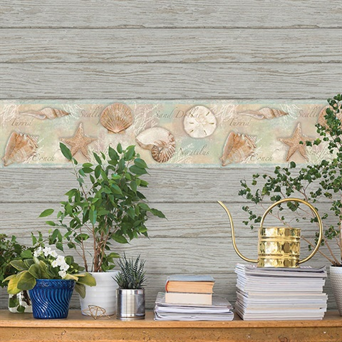 Rehoboth Grey Distressed Wood Wallpaper