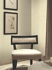 Beige New York Greek Key Wallpaper