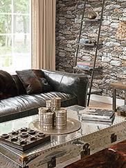 Brown and Grey New York Fieldstone Wallpaper