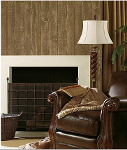 Faux Brown Wood Panel