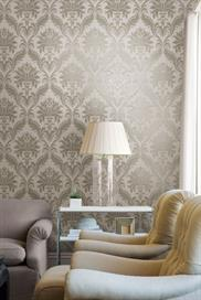 484-68038 Orpheus Grey and Silver Damask