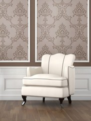 495-69023 Scott Nouveau Damask Wallpaper