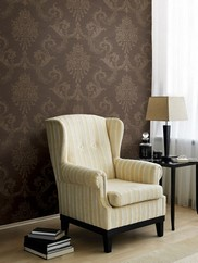495-69039 Chambers Floral Damask Wallpaper