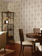 495-69058 Tennyson Shimmer Damask Wallpaper