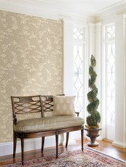 991-68222 Empire Floral Scroll Wallpaper