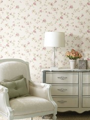 992-68332 Mary Trail Rose Floral Wallpaper