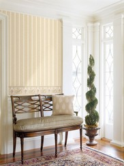 992-68371 Kendra Scroll Striped Wallpaper