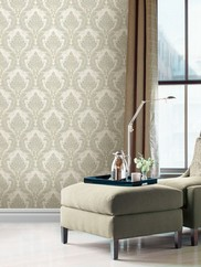 993-59452 Mercutio Light Green Damask Wallpaper