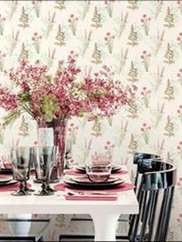 AB42442 Floral Toile Wallpaper