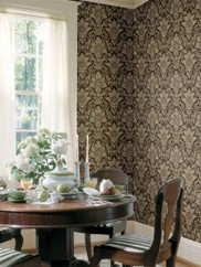 AL13654 Distressed Damask Wallpaper