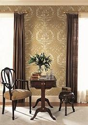 Brilliant Acanthus Gold and Brown Damask