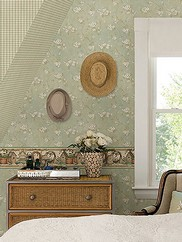 CTR44107 Dixie Floral Trail Wallpaper