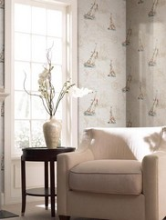 DLR47503 Water's Edge Toile Wallpaper