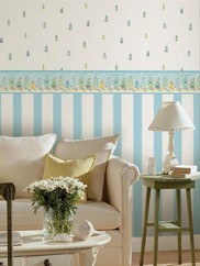 DLR54562 Baby Blue Waterside Stripe Wallpaper