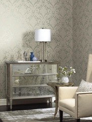 EM3803 Full Damask Wallpaper