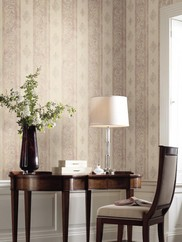 EM3850 Watercolor Scroll Stripe Wallpaper