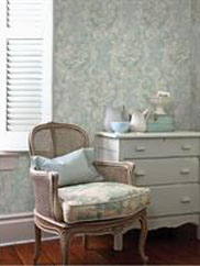 Blue Damask Wallpaper, SBK22824