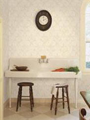 White Damask Paisley Wallpaper, SBK22857