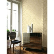 GA31603 Raised Ink Damask Wallpaper