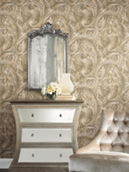 GF0720 Raised Paisley Wallpaper