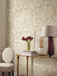 GF0721 Raised Paisley Wallpaper