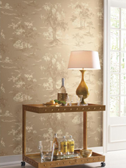 GF0768 Metallic Scenic Wallpaper