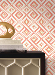 Salmon Paradox Wallpaper by Ashford House Design