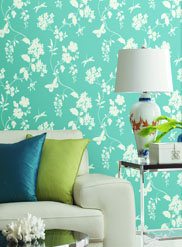 inspired-by-color-blue wallpaper room scene 2