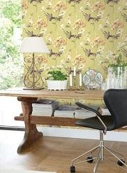 impressionist wallpaper room scene 4