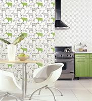 Ke29928 kitchen elements wallpaper book by norwall for Lime green kitchen wallpaper