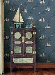 MAN01701 Navy Andrew Wallpaper