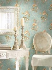 Pale Blue Limoges Floral OF31102