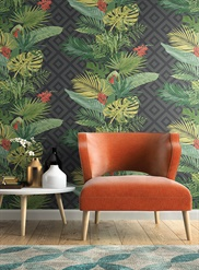 ON1629, Tropical Oasis Stripe Wallpaper