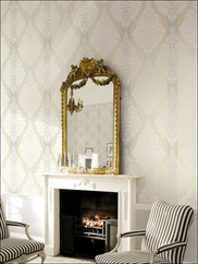 ON40200 Damask Striped Wallpaper