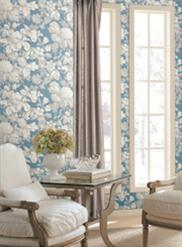 Blue and White Antique Floral KC1845