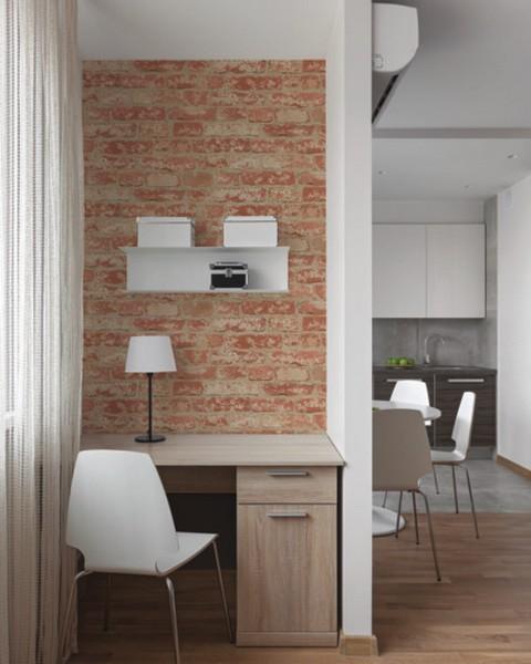 RMK9035WP Stuccoed Red Brick Peel and Stick Wallpaper