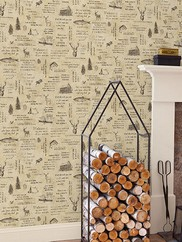 TLL01472 North Hills Script Wallpaper