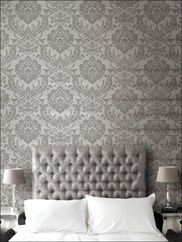 TR60101 Raised Ink Damask Wallpaper