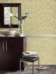WD3040 Crackled Textured Scroll Wallpaper