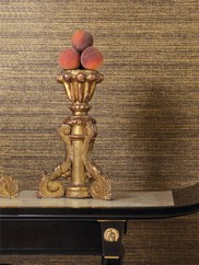 WD3074 Gold and Black Linen Faux Wallpaper