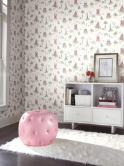 WK6830 Tres Chic Toile Wallpaper