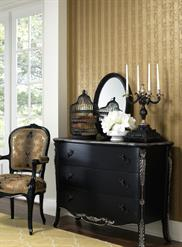 Metallic Stripe Damask