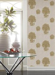 Silver and Gold Tree Toile