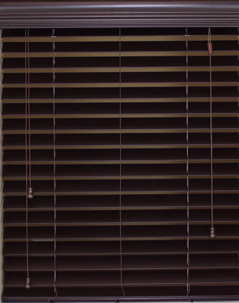 2 Inch Corded Faux Wood Blind