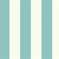 "Aqua 3"" Stripe Wallpaper"