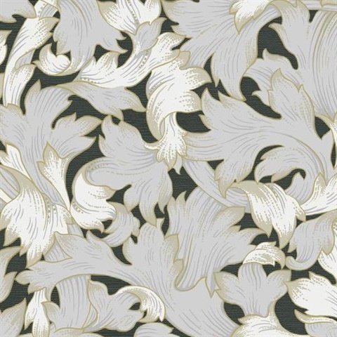 Acanthus Toss Wallpaper