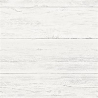 Adair White Shiplap Wallpaper