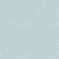 Agave Bliss Teal Faux Grasscloth Wallpaper